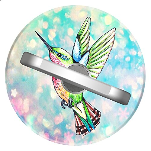 Sparkling Hummingbird Phone Ring Holder   Sliver Metal 360 Degree Rotation Ring Stand Grip For Phone Ipad Tab