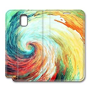 Brain114 Fashion Style Case Design Flip Folio PU Leather Cover Standup Cover Case with Swirl Pattern Skin for Samsung Galaxy Note 3