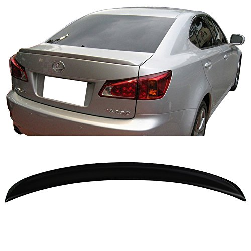 Trunk Spoiler Fits 2006-2013 Lexus IS250 IS350 IS-F | ISF Sports Style Unpainted ABS Added On Lip Wing Bodykits by IKON MOTORSPORTS | 2007 2008 2009 2010 2011 2012