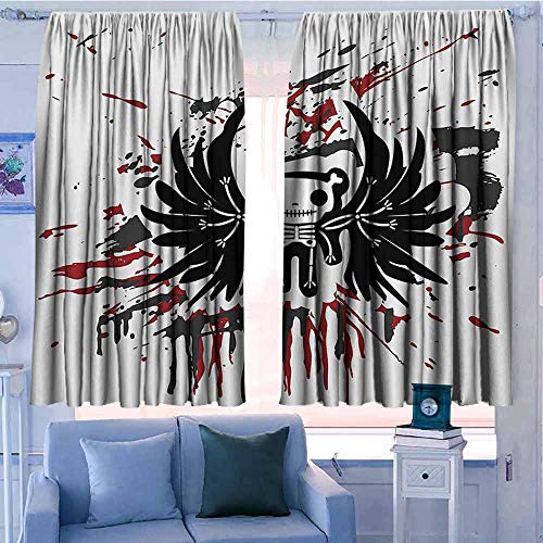 AndyTours Window Curtains,Halloween,Great for Living Rooms & Bedrooms,W72x45L Inches Pearl Black Ruby]()