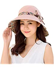 NW 1776 Summer Women's UV Protection Outdoor Sunscreen Beach Hat… Yellow