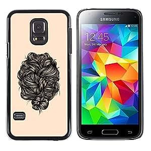 Be Good Phone Accessory // Dura Cáscara cubierta Protectora Caso Carcasa Funda de Protección para Samsung Galaxy S5 Mini, SM-G800, NOT S5 REGULAR! // hair black