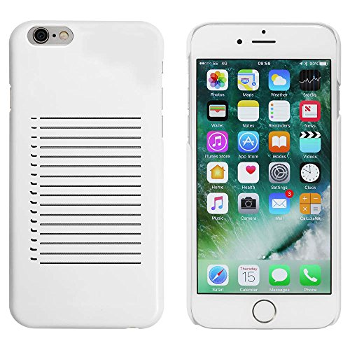 Weiß 'Hinweis Papier Hintergrund' Hülle für iPhone 6 u. 6s (MC00042550)