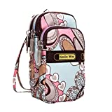Womens Bag Messenger Bag Shoulder Backpack Wrist Purse Printing Zipper Bag Fashion Handbag Faionny (Large, C)