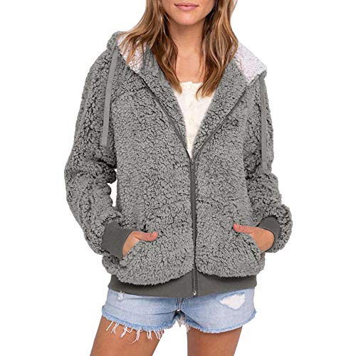HYIRI Classic Women Casual Pocket Hooded Parka Outwear Sweater Coat ()