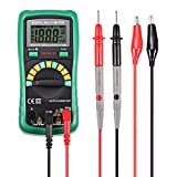 INLIFE Digital Multimeter Volt Amp Ohm Multi Tester with 2000 Counts Auto Ranging, DC Current Resistance Diodes, Audible Continuity Test Backlight and LCD Display