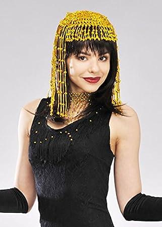 9217e0f4e23 MagicBox Womens 1920s Flapper Gold Beaded Headpiece  Amazon.co.uk ...