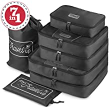 MyTravelUp - TRAVEL PACKING CUBES for everyone who loves traveling, durable material, BAG for LAUNDRY/SHOES. This travel set will be a SMART ORGANIZER for clothes