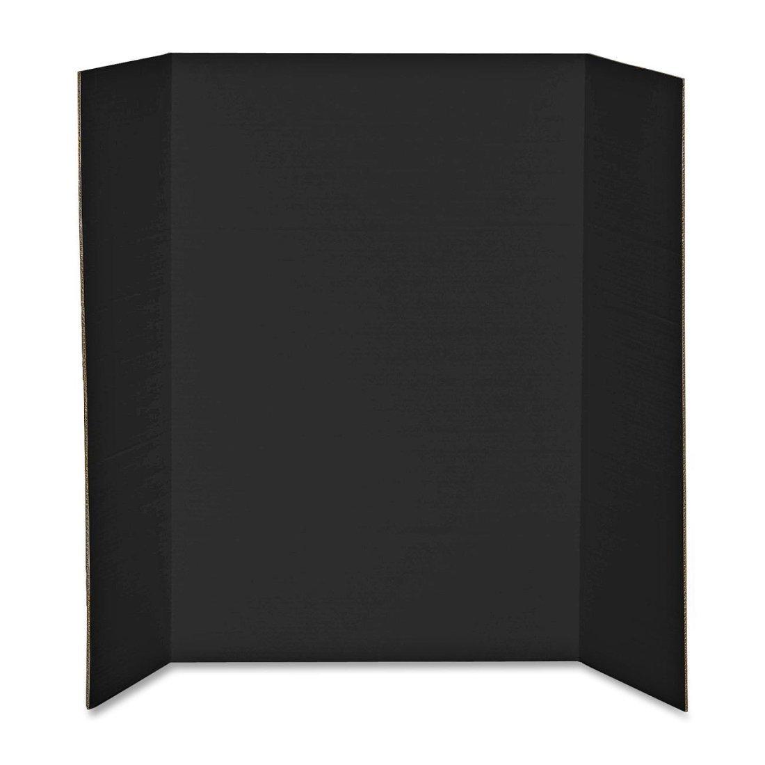 Elmer's Heavy-Duty Tri-Fold Display Boards, 36 x 48 Inches, Black, 12-Count (730191)