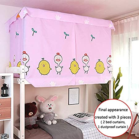3784 Hyacinth, 1.15 * 2 m LA HAUTE Bed Canopy Single Sleeper Bunk Bed Curtain Student Dormitory Blackout Cloth Mosquito Nets Bedding Tent