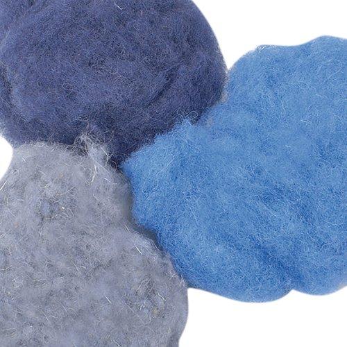 Efco 50 g Wool for Felting in Blue Assorted 1008095