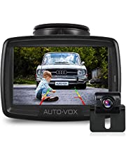 AUTO-VOX W2 Wireless Digital Backup Camera Kit, -20-65℃ Resistant IP68 Waterproof Wireless Rear View Camera with Anti-Interference Built-in Transmitter for Cars,Trucks, Pickups, Trailers and RVS