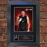 DEAN AMBROSE WWE wrestler Signed Autograph Mounted Photo Repro A4 Print 581 (Black frame)