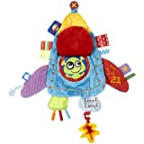 label label Holiday Rocket Ship Silky Comfort Taggie Baby Soother Blanket