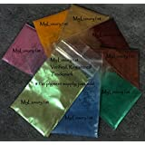 Lot of 8 One Gram 1 Grams Sample Micas Mica Sparkle Sparkling Shimmer Soap Making Cosmetic Pigment Pink Orange Gold Burgundy Copper Teal Blue Jade Shimmering Powder