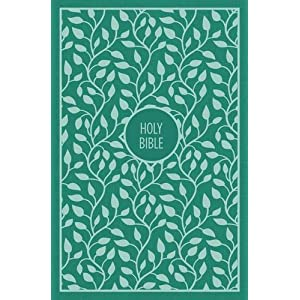 KJV, Thinline Bible, Large Print, Cloth over Board, Green, Red Letter Edition