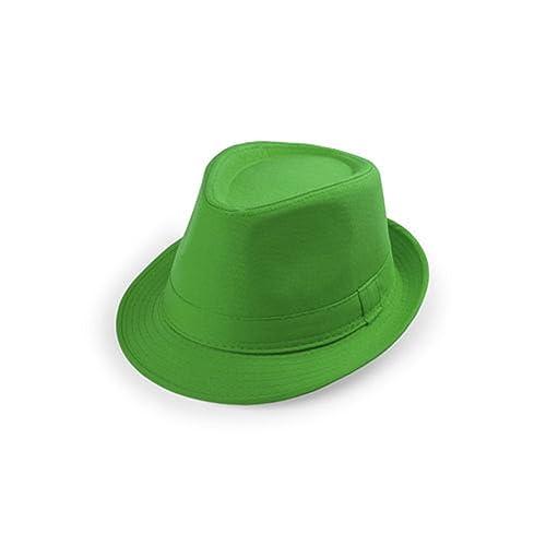 unisex estate Cappello Panama - fedora / trilby berretto di gangster spiaggia (verde)