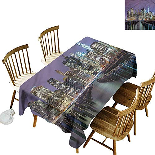 Water Resistant Table Cloth New York City Manhattan Skyline Party Decorations Table Cover Cloth 60