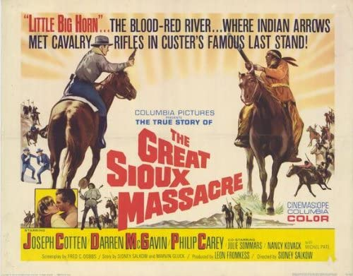 The Great Sioux Massacre (1965) 22 x 28 Movie Poster - Half Sheet ...
