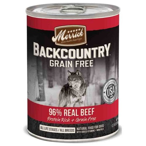 Merrick Backcountry 96% Beef 12.7 oz Case 12