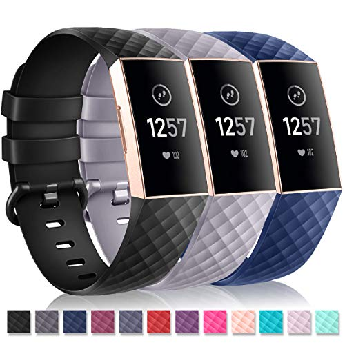 - Humenn Bands Compatible for Fitbit Charge 3,Classic & Special Edition Replacement Sport Wristband Compatible for Charge 3 and Charge 3 SE, Large Small