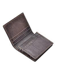 HAWEE Men's Bifold Front Pocket Wallet Genuine Leather RFID Blocking Card Billfold