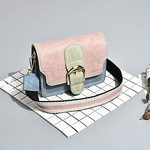 Moda Selvaggia Femminile Polvere Larga Rosa Piccola Colorata Xmy Quadrata A Tracolla Borsa Blu wT0qnAX