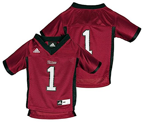 Adidas NCAA Infants UMASS Minutemen Replica Jersey, Maroon (18 - Embroidered Red Football Jersey
