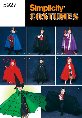 Simplicity Sewing Pattern 5927 Child Costumes, A (S-M-L) (Dracula Child Costume)