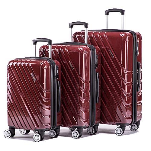 Expandable Luggage Sets Spinner Lightweight Luggage with TSA lock HardShell Suitcase Set 3pcs 20inch Carry On 24inch…