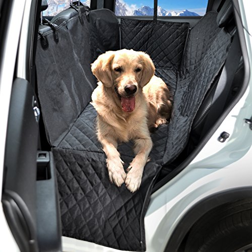 Dog Car Seat Covers Set - Pet Seat Covers Set - Dog Car Seat Covers WaterProof - Heavy Duty Dog Seat Cover WaterProof - Dog Car Seat Covers Heavy Duty - Vehicle Seat Covers for Dogs - HAMMOCK black by FG [FamilyGroup] (Image #1)