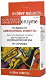 Webber Naturals Complete Digestive Enzymes [Full Spectrum], Blister packed, 60 Caps