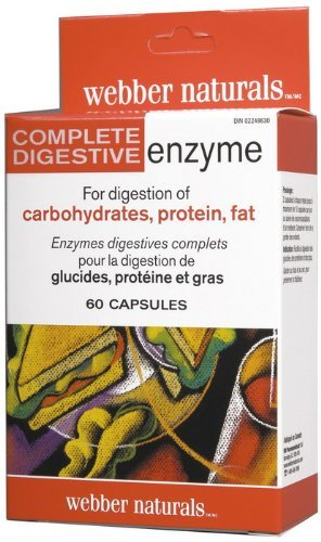Webber Naturals Complete Digestive Enzymes [Full Spectrum], Blister packed, 60 Caps by Webber Naturals