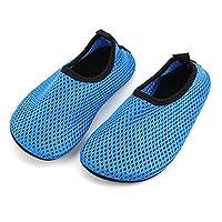 edv0d2v266 Boys Girls Water Shoes Swim Shoes Quick Drying Barefoot Aqua Socks for Kids Beach Pool (Blue 33/1.5 M US Little Kid)