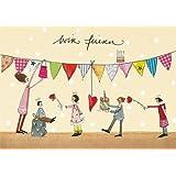 """Einladungskarten Kindergeburtstag """"Wir feiern"""", Design: Silke Leffler"""