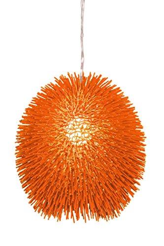 (Varaluz 169P01OR Urchin 1-Light Pendant - Electric Pumpkin)