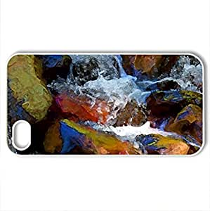 Sedona Fantasy - Case Cover for iPhone 4 and 4s (Waterfalls Series, Watercolor style, White) by lolosakes