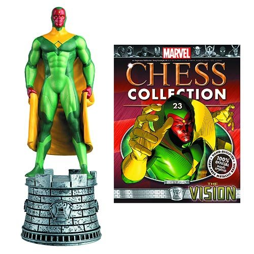 MARVEL CHESS FIGURINE COLLECTION MAGAZINE #23 VISION WHITE ROOK