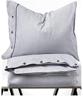 beautiful white and blue striped pattern duvet cover and pillowcases twin size ikea nyponros - Duvet Covers Ikea