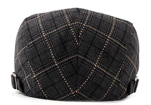 hat beret delgada beanie gris MASTER sombreros Navidad Black hat hombre Plaid Halloween Moda mujer avance Boina plaid TnUvO7