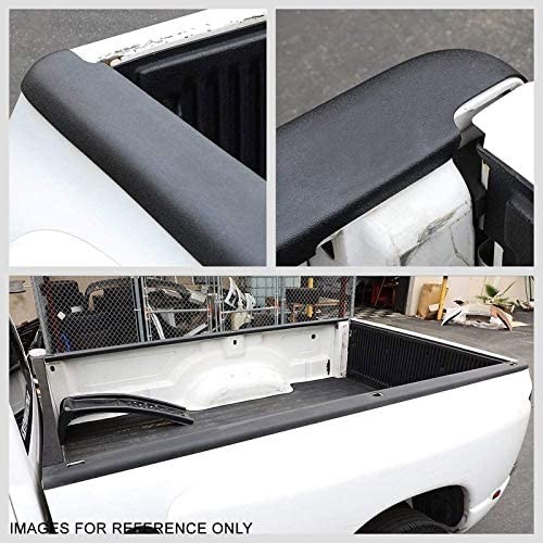 UrMarketOutlet Left//Right Cargo Truck Bed Cap Molding Rail Protector Cover W//O Stake Hole Pocket Works with 07-13 GMC Sierra 1500 6-1//2Ft Bed Black//Tape-On