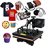 Super Deal PRO 5 in 1 Heat Press Machine Multifunction Sublimation T Shirt Press Machine Hat/Mug/Plate/Cap/T-Shirt