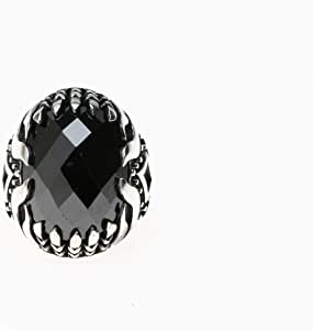 Turkish Silver Ring with Zircon Stone for Men, 1124