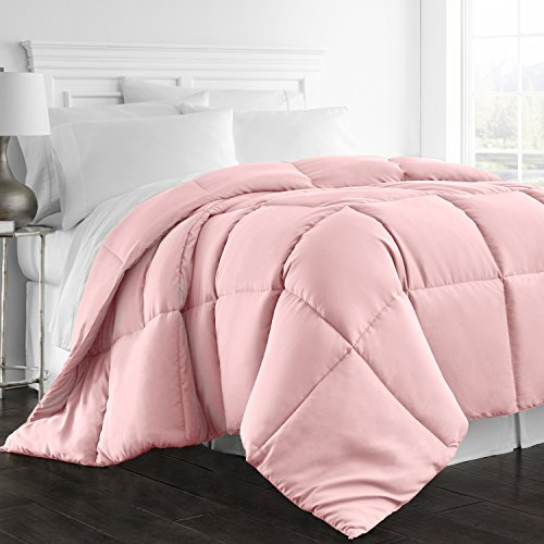 Beckham Hotel Collection 1300 Series - All Season - Luxury Goose Down Alternative Comforter - Hypoallergenic - Twin/Twin XL - Pink (Pink Down Twin Comforter)