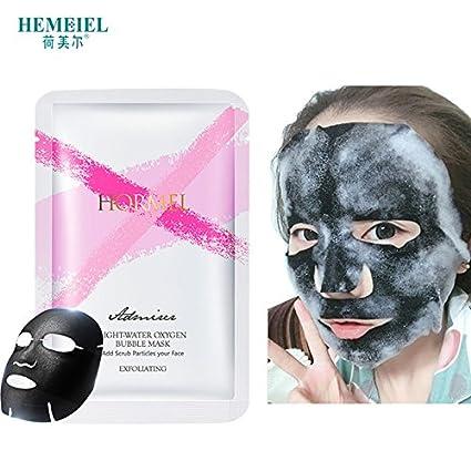 Detox Máscara de Oxígeno bambú carbón Espuma Lavado Pore piel cuidado Máscara