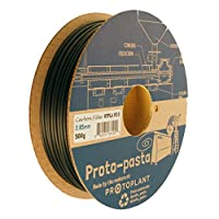 Proto-pasta HTP22805-CF High Temperature Carbon Fiber Spool , PLA 2.85 mm, 500 g , Black from Protoplant INC