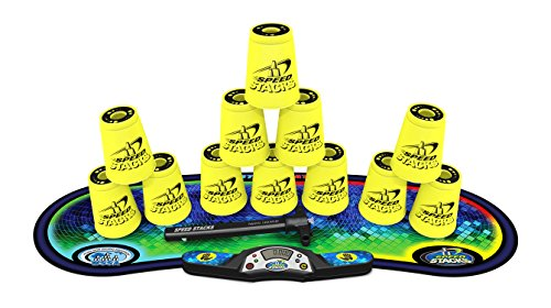 SPEED STACKS Competitor - Neon Yellow w/ Voxel Glow Mat by Speed Stacks