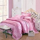YiXinZhaiPei Tencel fabric Jacquard satin bedding models Wedding Suite 4 1.5M-1.8M/2.0M , queen