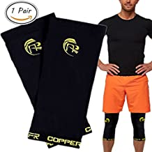 1 Pair, Copper CFR Compression Recovery Knee Brace, Highest Copper Content Infused Fit Knee Sleeve, Support For Men and Women Wear Anywhere