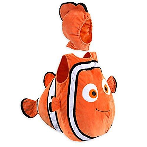 Disney Store Deluxe Nemo Halloween Costume Bodysuit Size 3 - 6 Months Finding Dory -